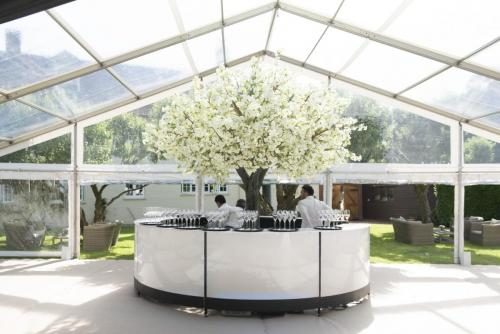 LED Full Circle Bar with clear tops for this wedding in Basingstoke