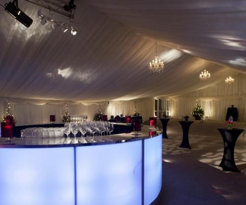 LED circular bar with pleated linings